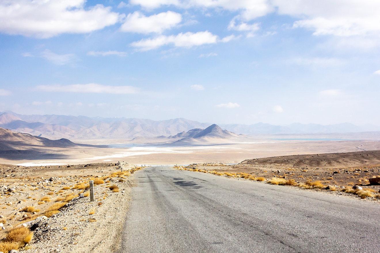 Dreamy landscape mountainscape Pamir mountains
