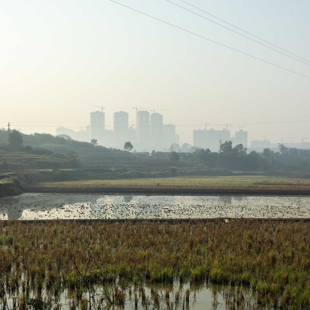 Cityscape of Luzhou, China