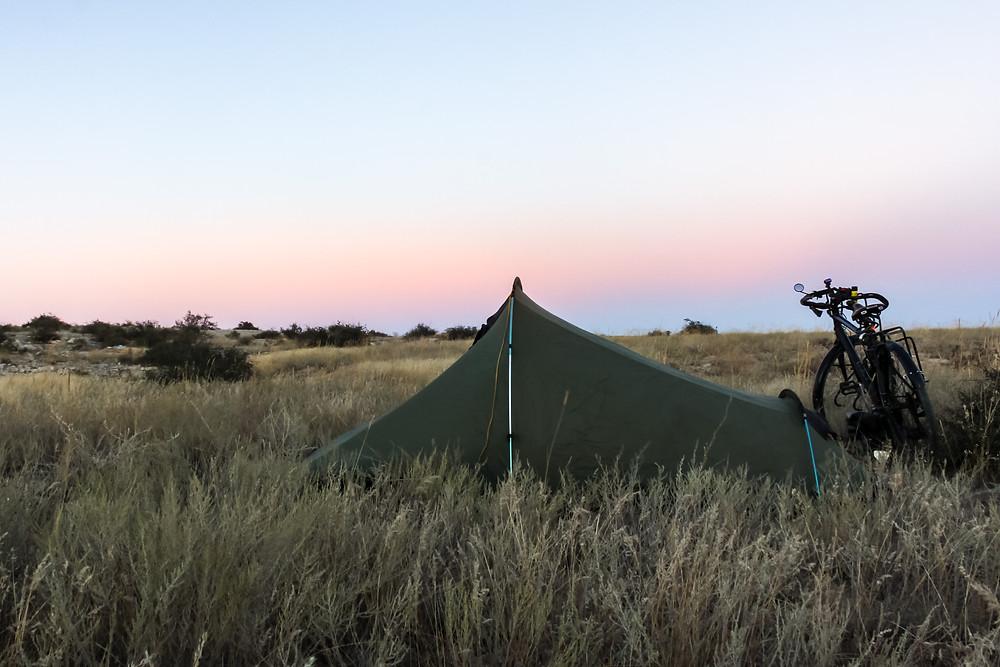 Wild camping Kazakhstan