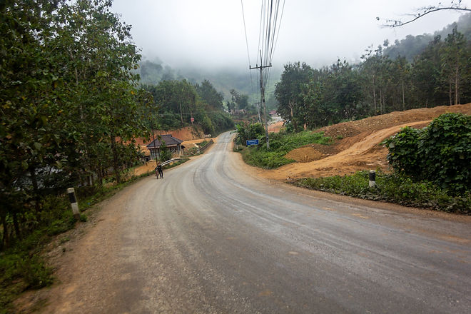 asphalt in laos