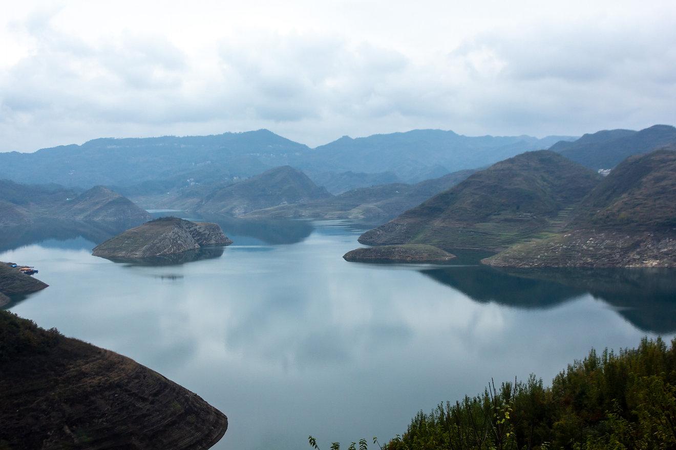 Big blue lake china