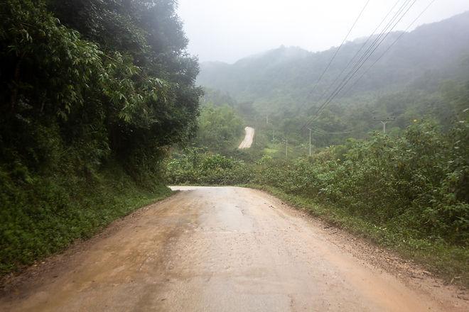 Huge hills in Laos