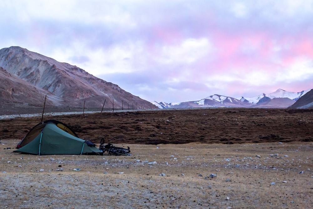 Wild camping in the Paris, Tajikistan