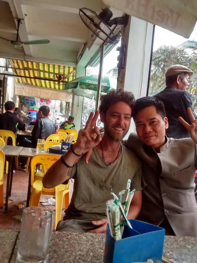 Arrival in Hanoi after eleven months on the road