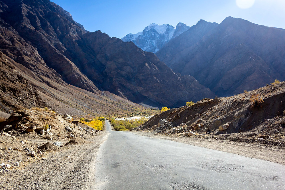Heading into the Pamirs, Tajikistan