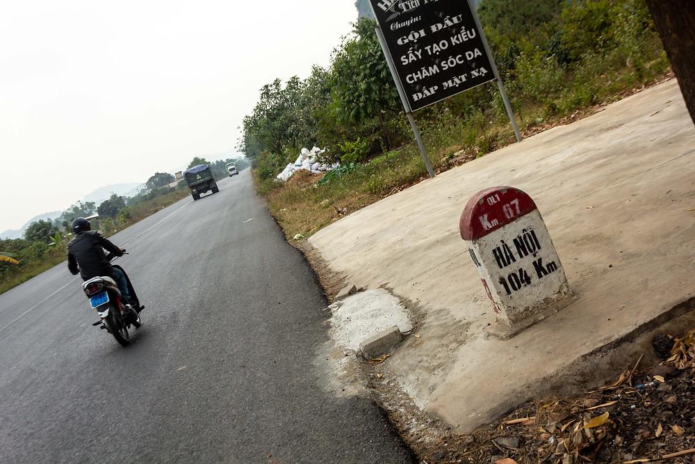 104km's until I reach Hanoi, Vietnam