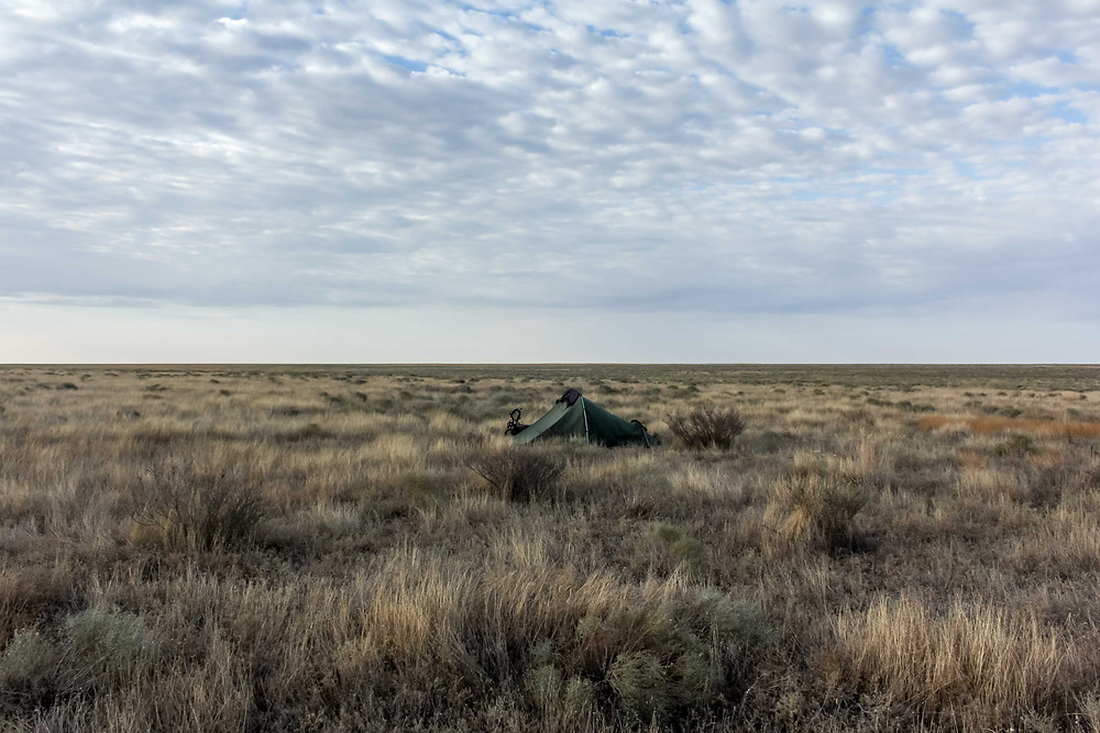 Wild camping in Kazakhstan