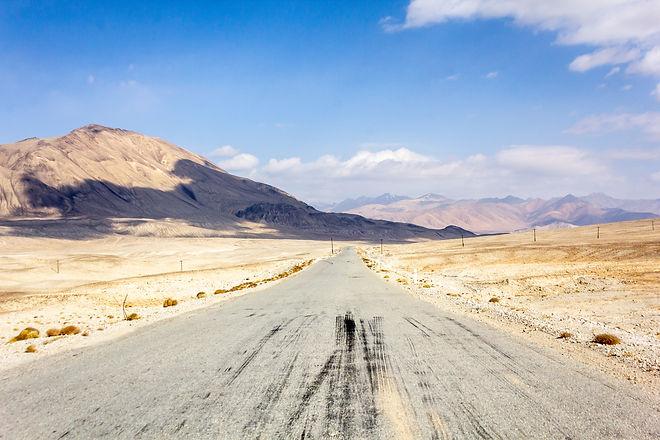 Asphalt Pamir highway