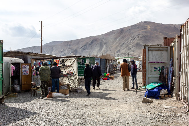 Busy marketplace Murghab