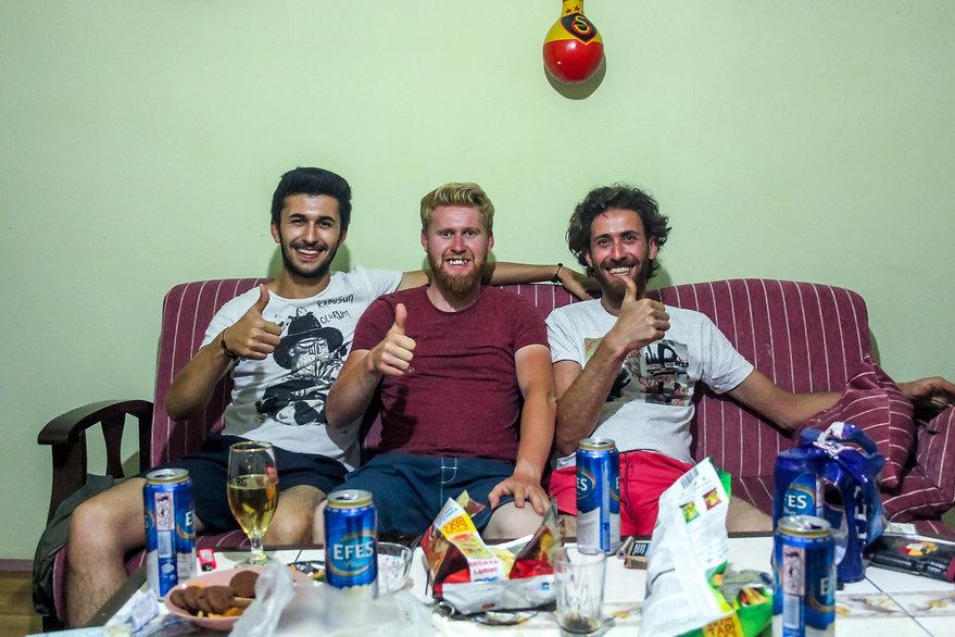 Meeting locals in Turkey