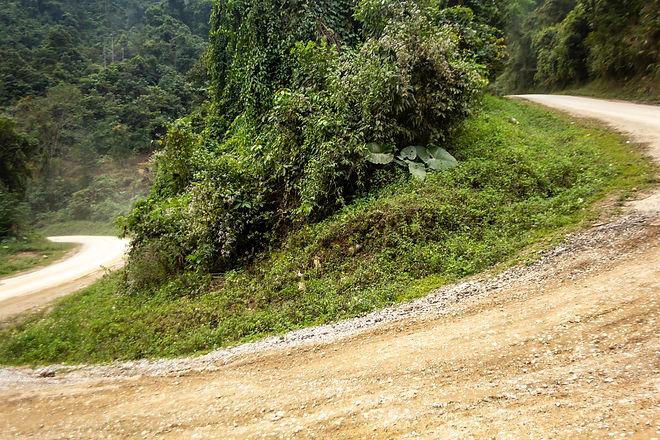 Steep hills Laos