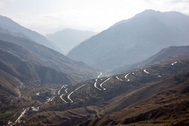 Mountain pass china