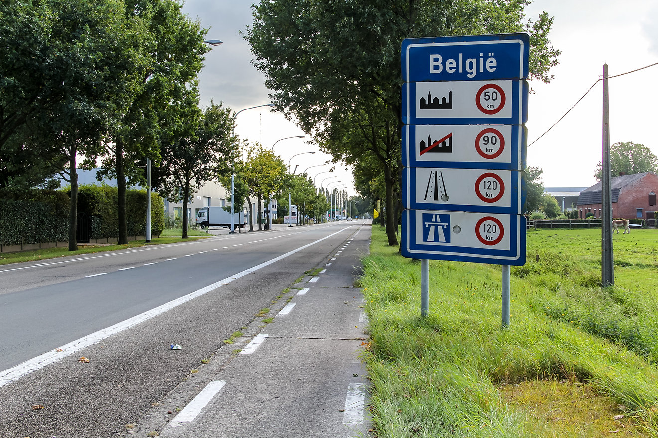Entering Belgium cycle touring