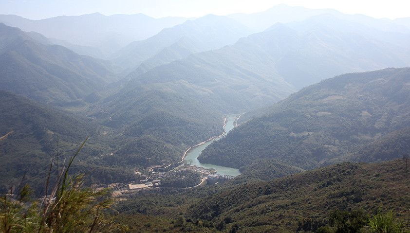 The view of Vietnam from the border with Laos