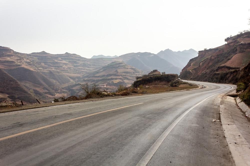Through the mountains south of Lanzhou