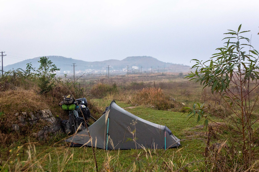 Stealth camping, China