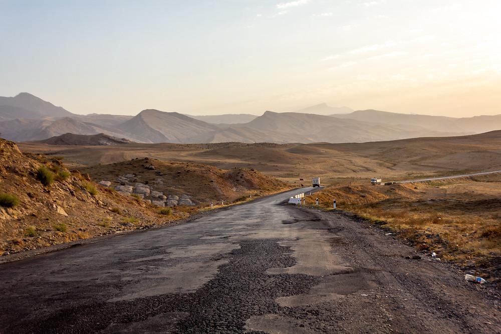 Amazing landscape of Uzbekistan