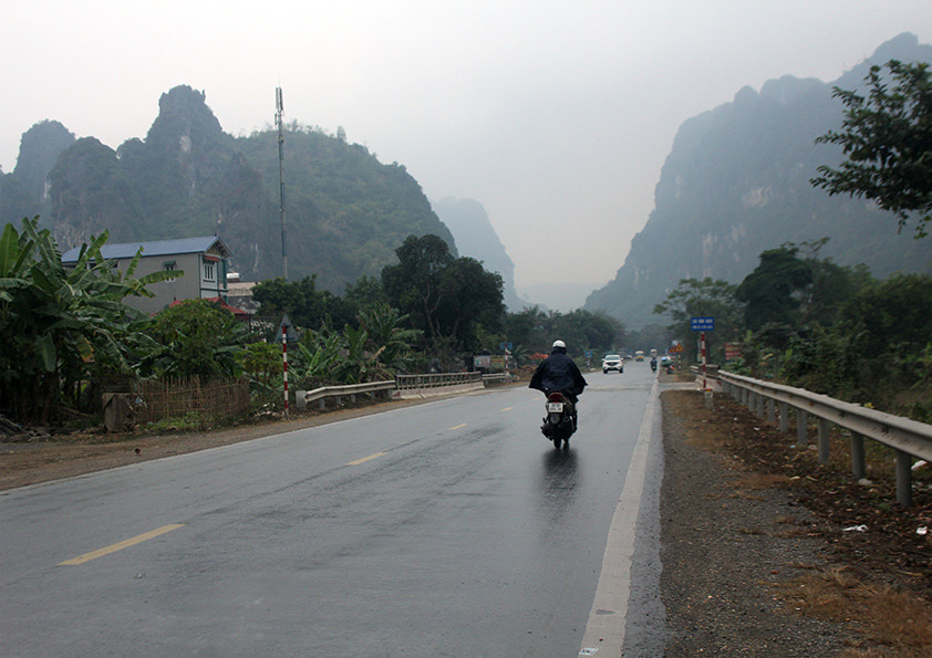 On the road from Hanoi, Vietnam
