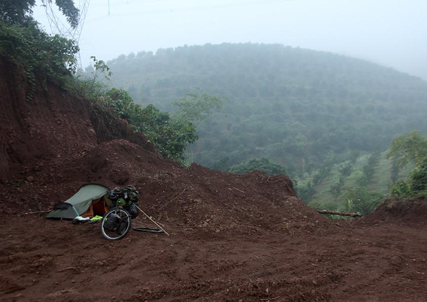 Wild camping in Vietnam