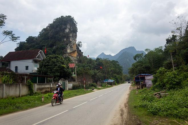 Limestone cliffs vietnam