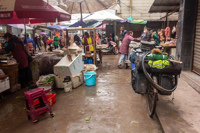 at the market sichuan