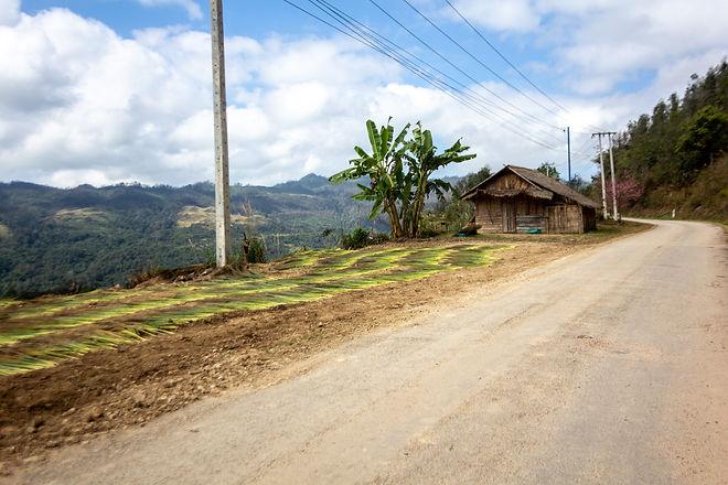 Drying crops laos
