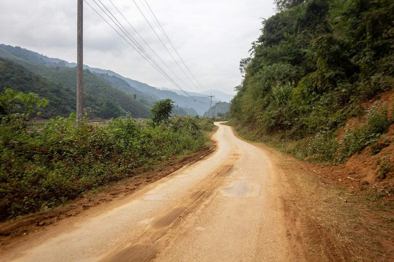 Dirt road Laos