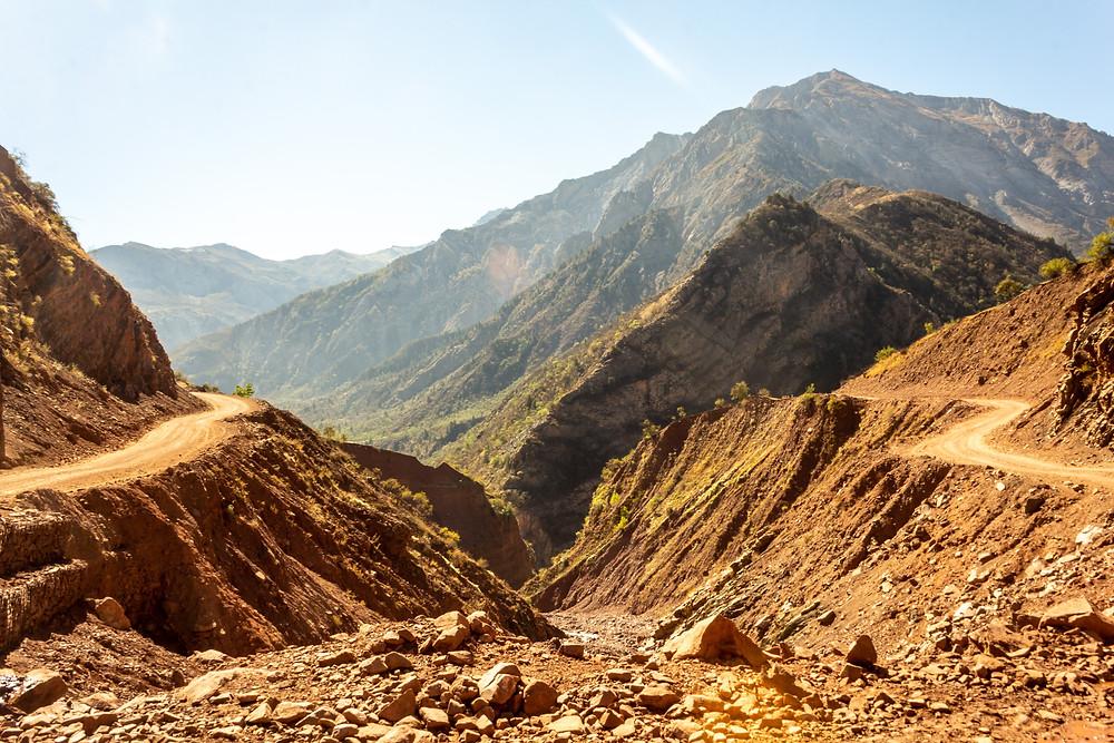Landscape of Tajikistan