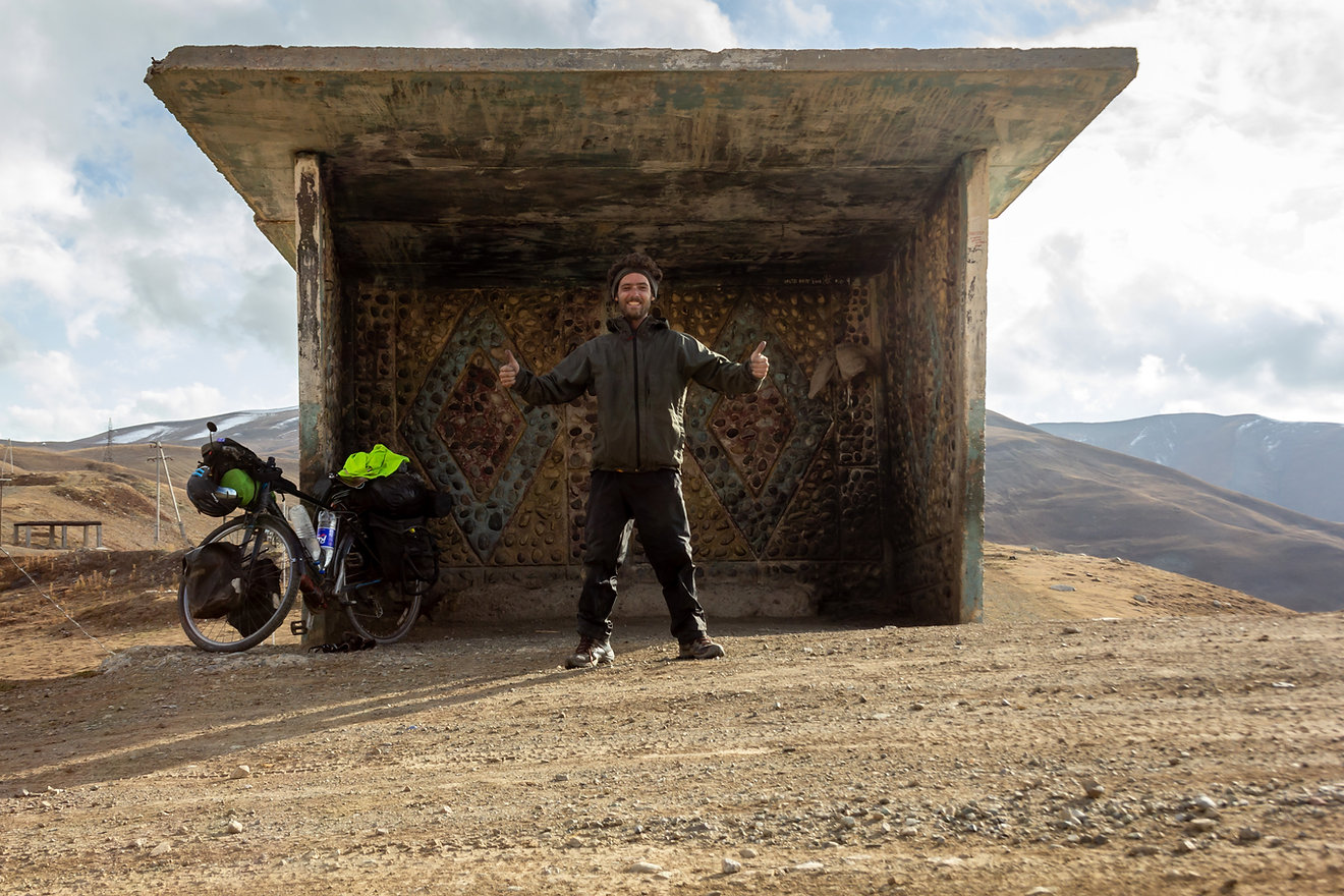 Tajikistan mountain pass