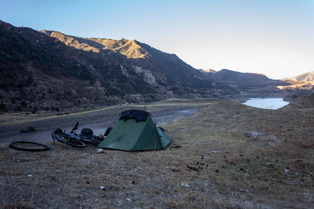 Wild camping in Tajikistan
