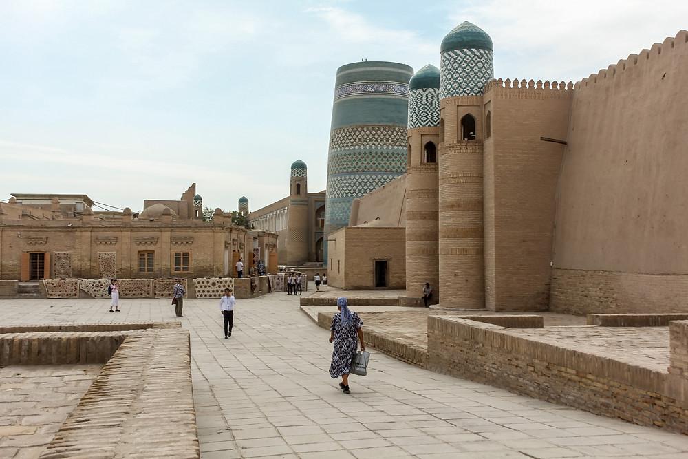 The city of Khiva, Uzbekistan