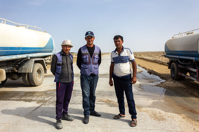 Road workmen