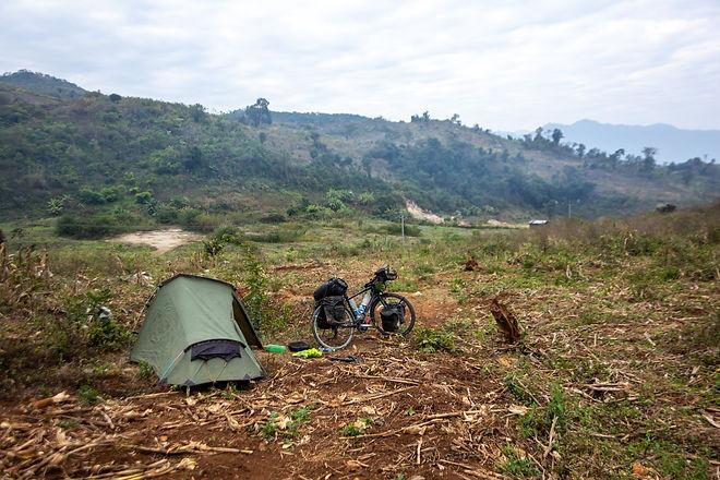 Wild camping laos