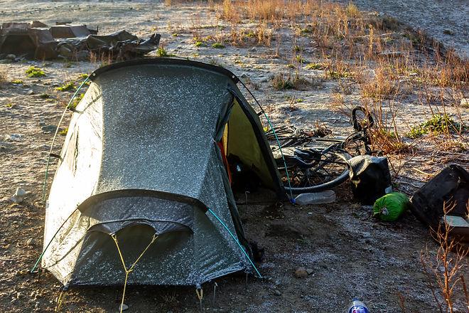 Wild camping pamir highway