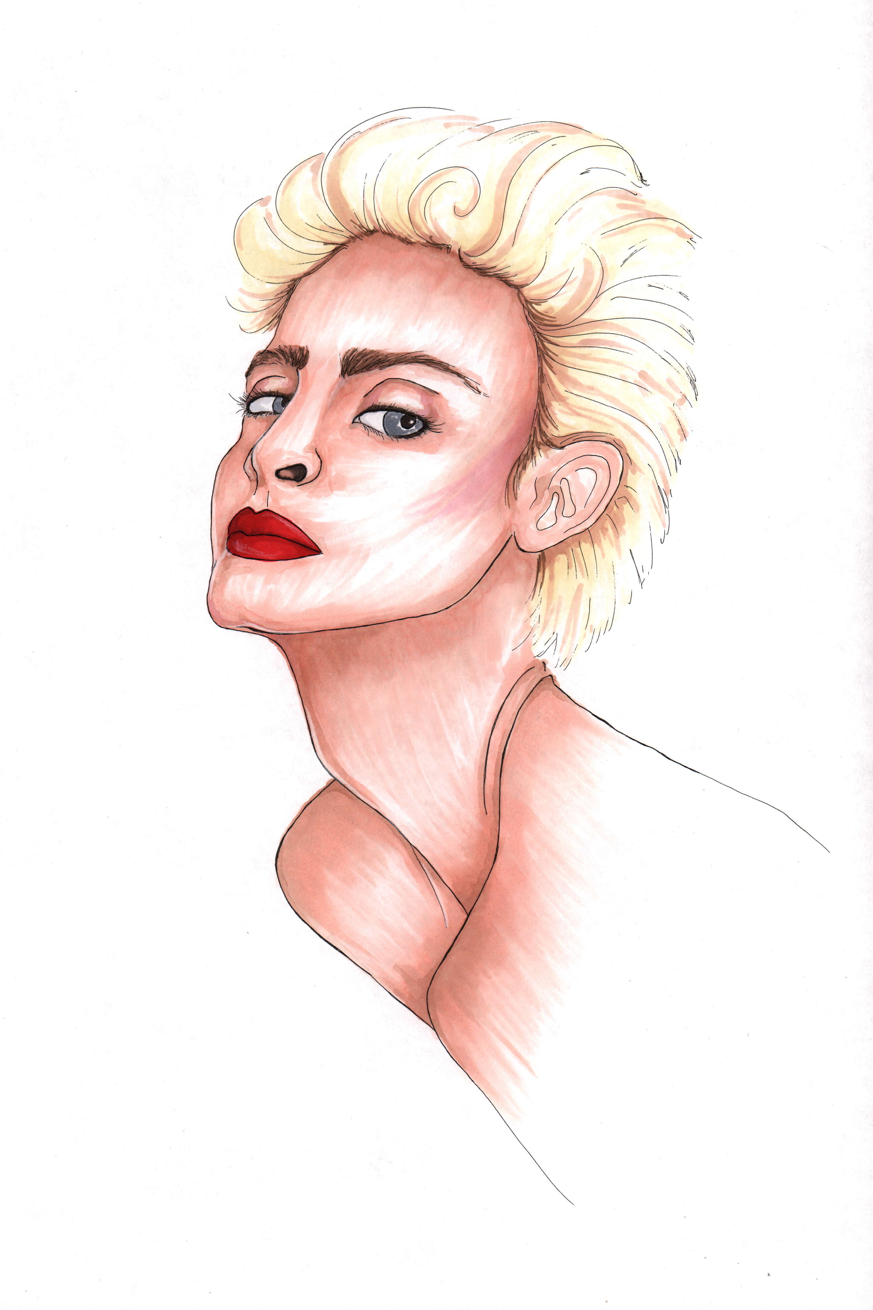 Marker Portrait of Madonna