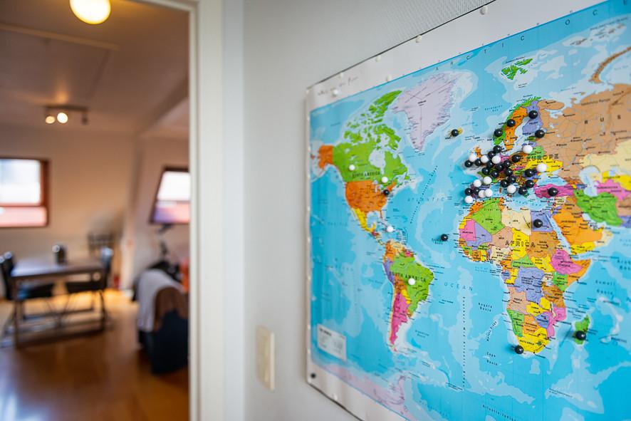 Wereldkaart De Bovenkamer