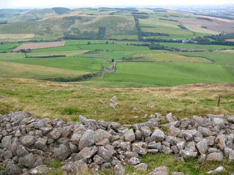 view from top of Yeavering Bell
