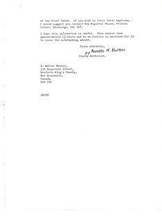 William Messer Letter Pt. 2