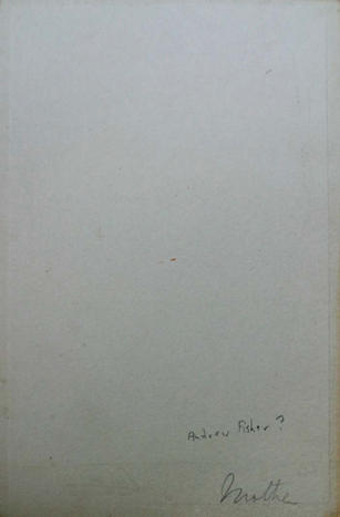 Back of undated cabinet card of male subject shown in 2917