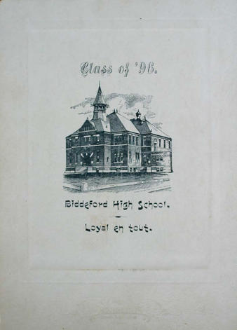 Back of 1896 graduation photograph of unidentified male subject