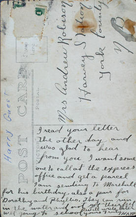 Note on postcard
