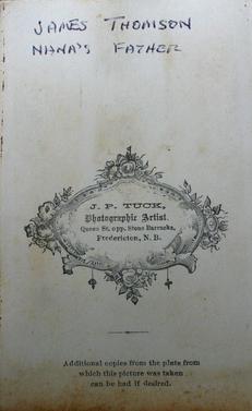 "3708_lg.jpgBack of undated carte de visite image above (3707) of Thomas ""James"" Thompson"