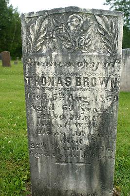 Thomas Brown Gravestone