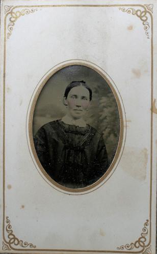 "Undated tin type image of 'older' Margaret ""Maggie"" Craig"
