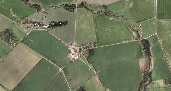 Aerial view of Hetton Law Farm