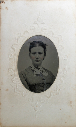 "tin type image of Margaret ""Maggie"" Craig ("