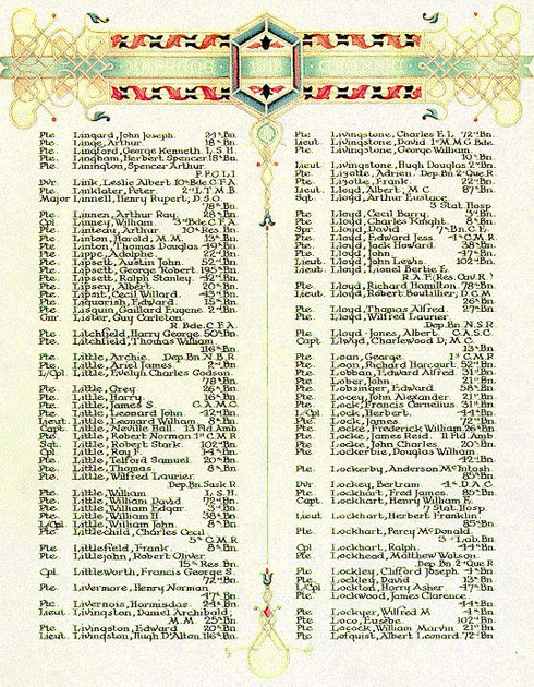 the First World War Book of Remembrance