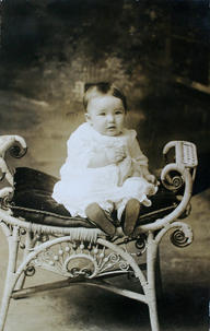 Unidentifed post card photograph of baby girl