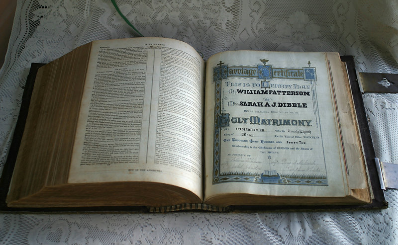 Patterson Marriage Certificate