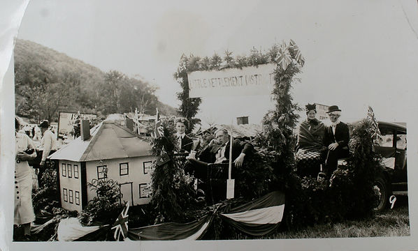 Little Settlement Float Build for the 1937 centennial celebrations